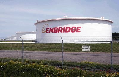 Enbridge Energy tank, AP file photo