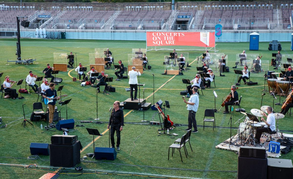 'Concerts on the Square' performed on Breese Stevens Field in 2020