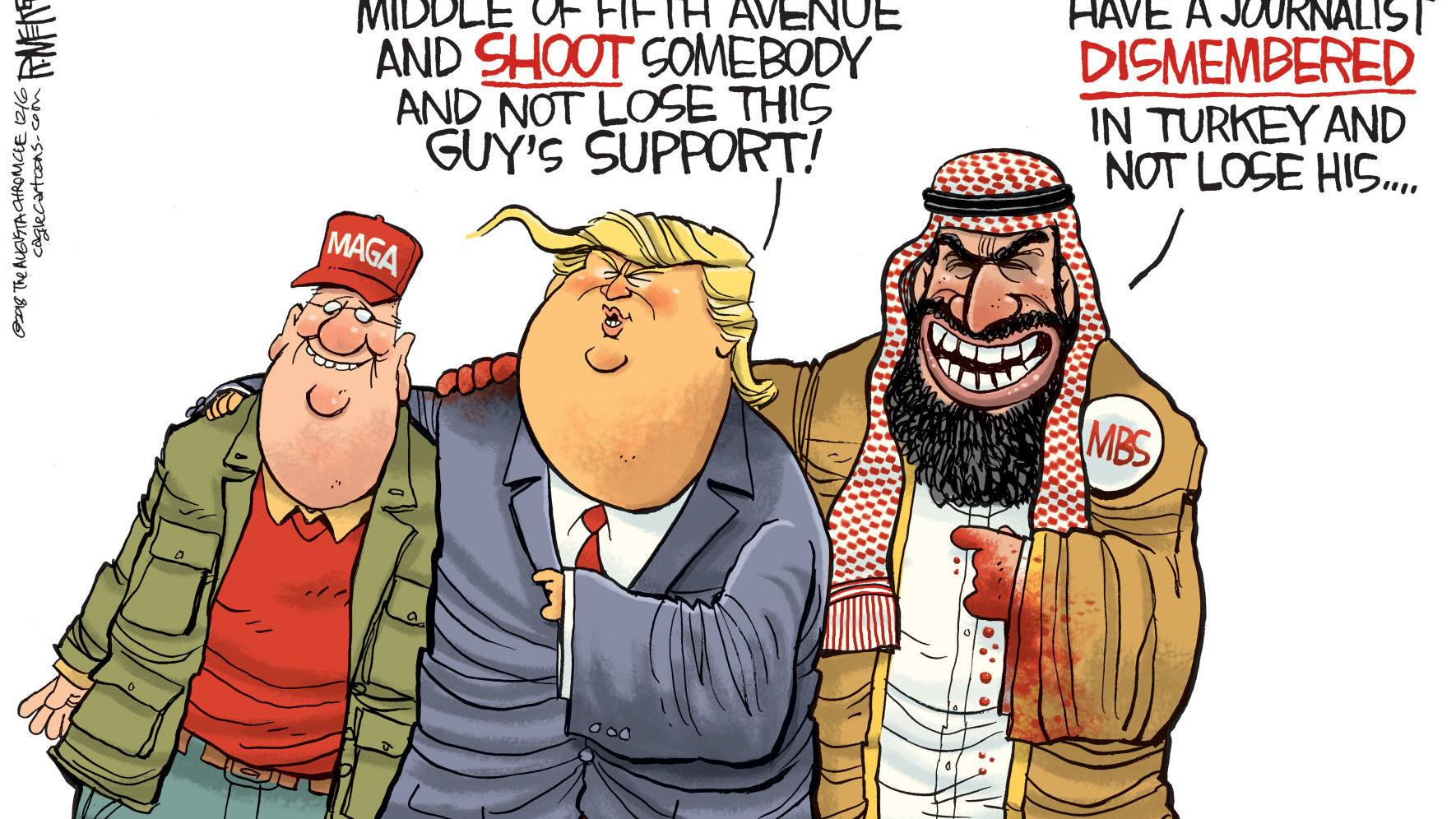 Trump and MSB won't lose their supporters, in Rick McKee's latest political cartoon