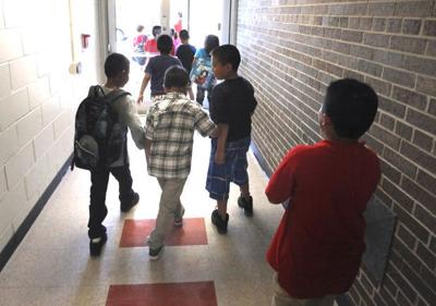 Kids leaving school (copy)