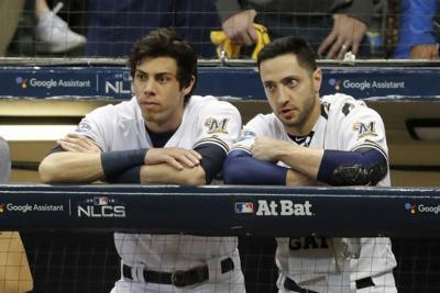 Yelich, Braun, MVP voting, AP photos