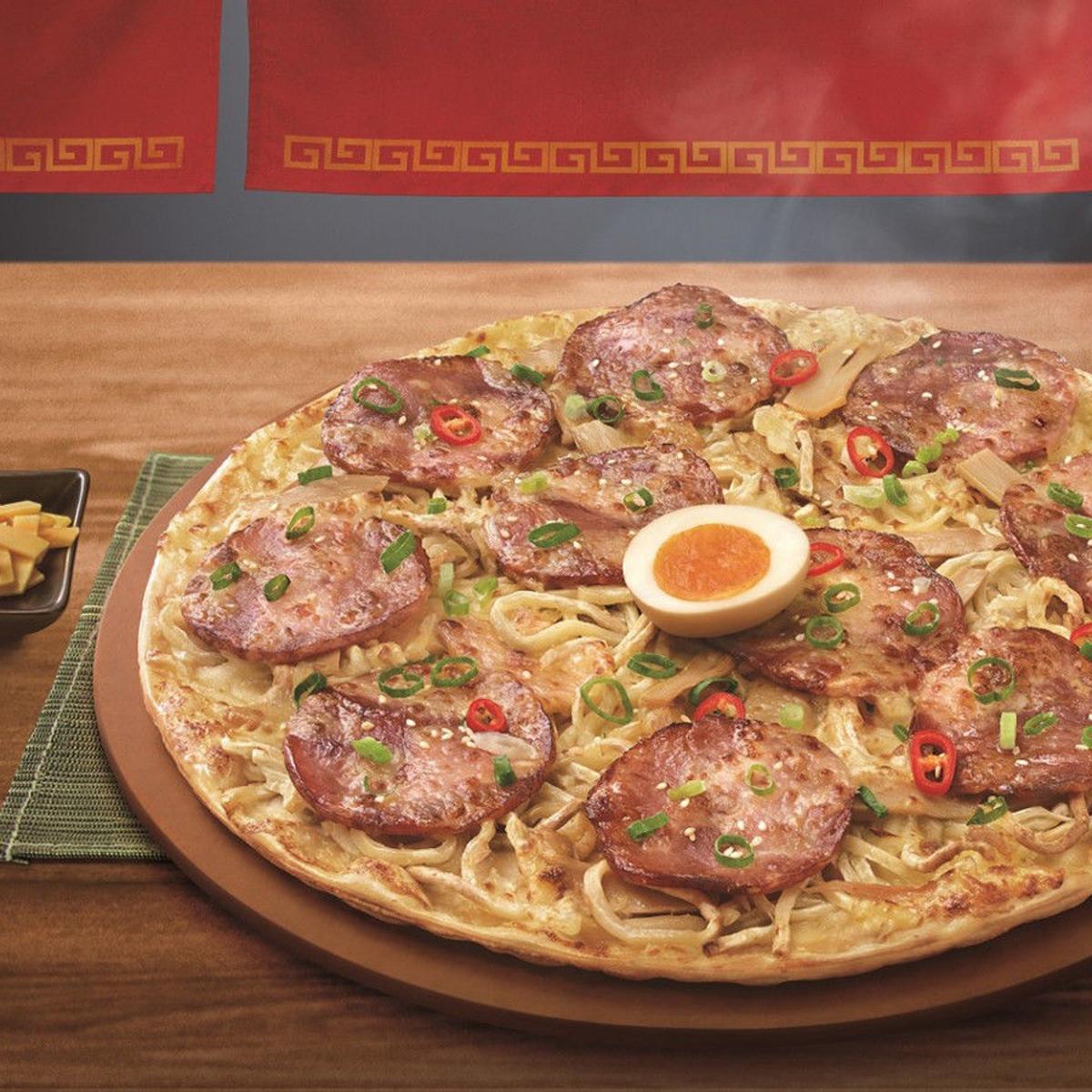 Pizza Hut Taiwan Unveils Its Latest Boundary Pushing Mashup Ramen Pizza Madison Com Recipes Food And Cooking Tips Madison Com