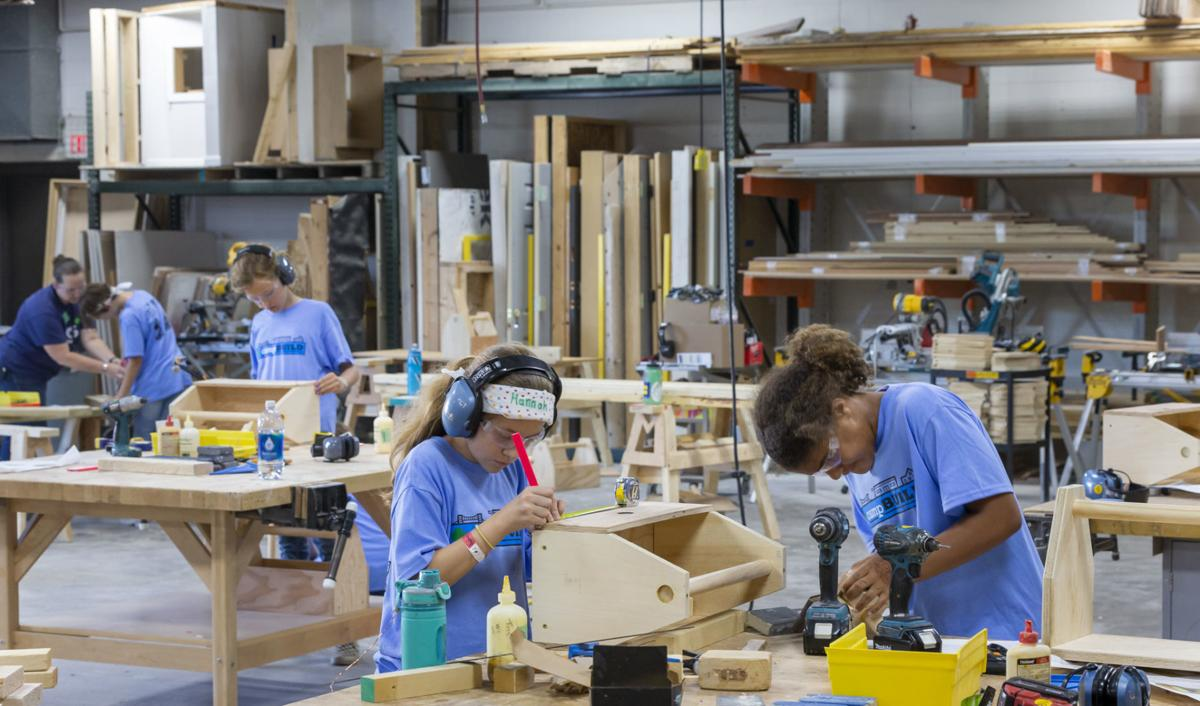 Girl Scouts learn the trades