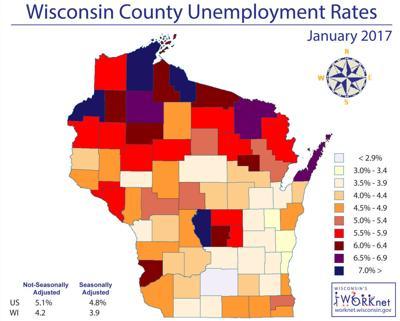 January 2017 unemployment rates