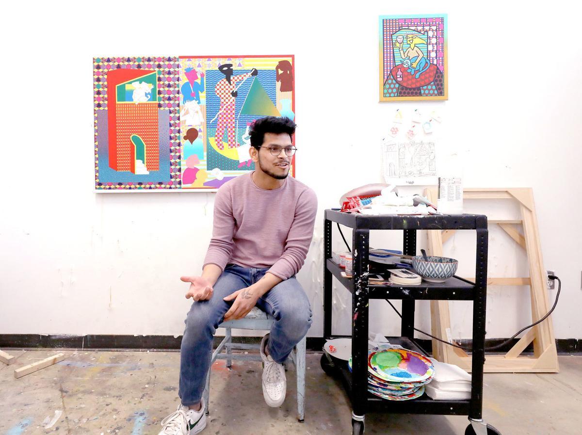 Sood in his studio