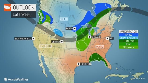 Late week outlook by AccuWeather