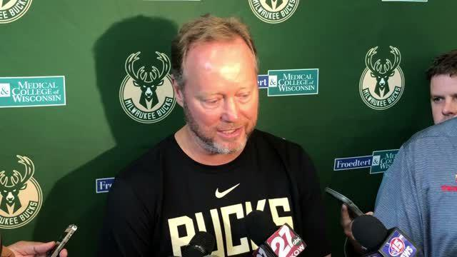 Video: Bucks coach Mike Budenholzer talks about opening training camp in Madison