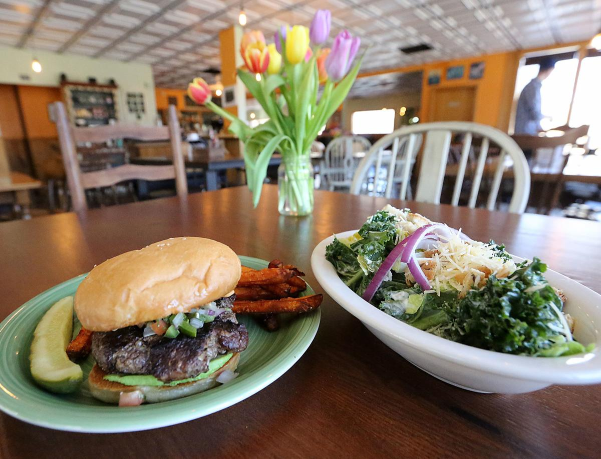 Common Ground burger and salad