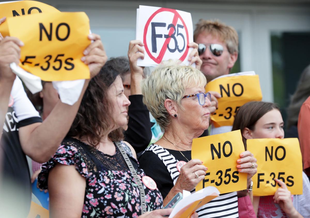 F-35 protesters