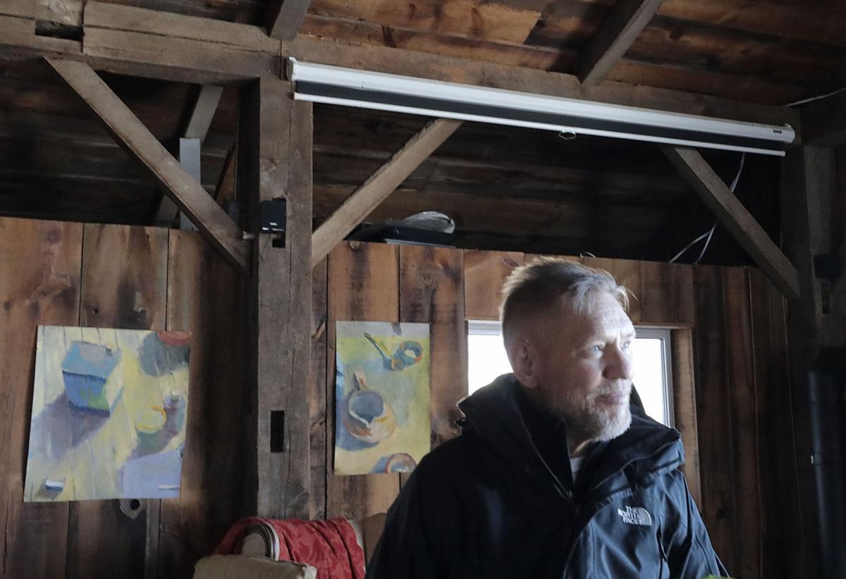 Wolff in art studio