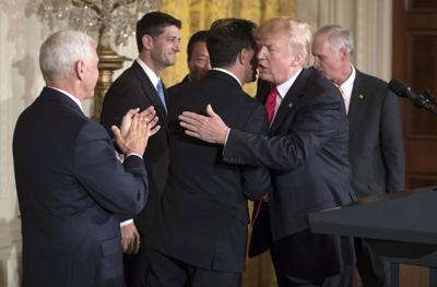 Donald Trump embraces Gov. Scott Walker