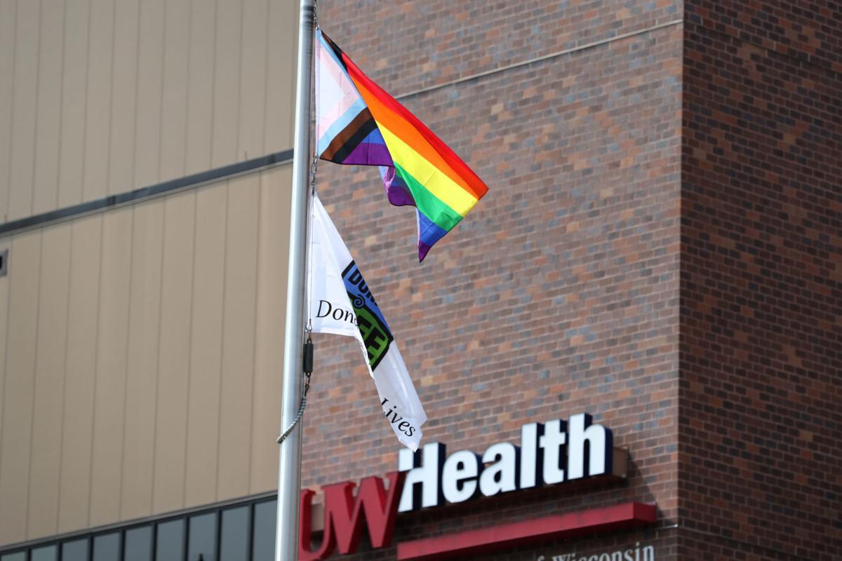 Pride flag at UW Hospital