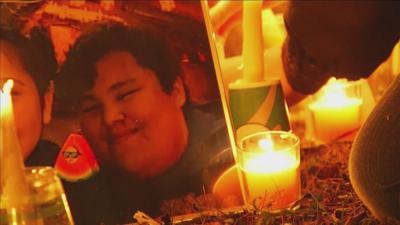 Jason Pero candlelight vigil