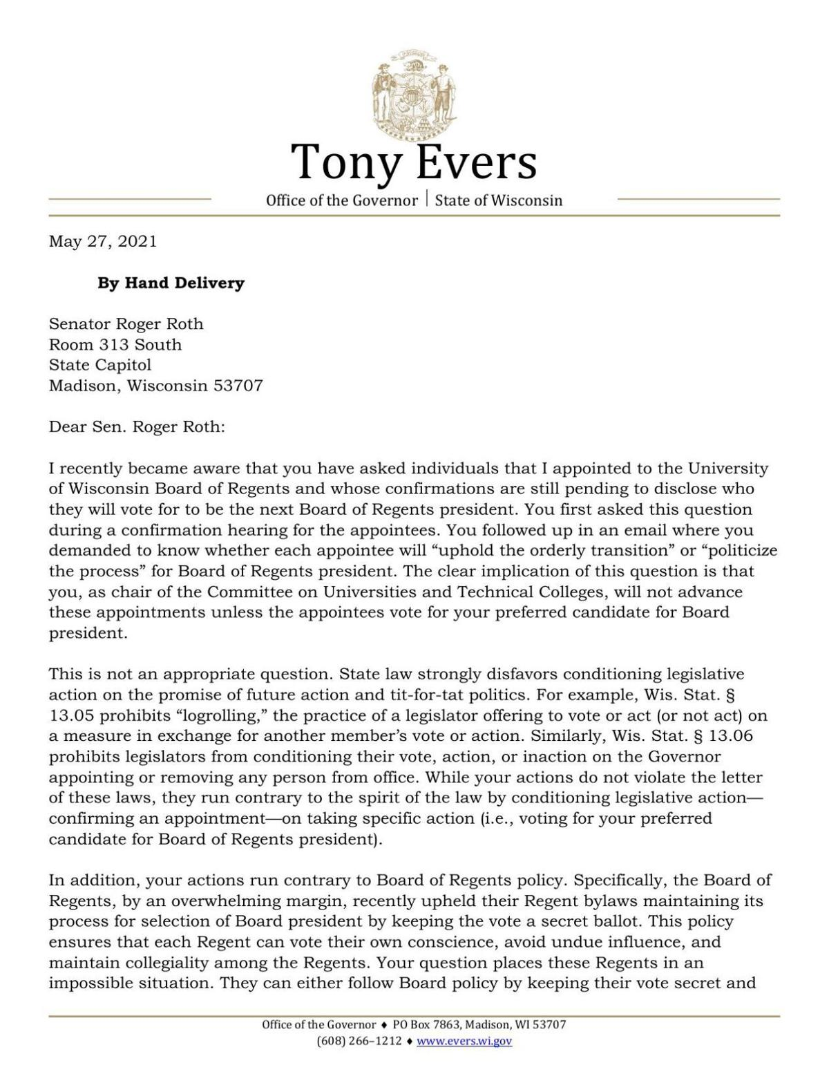 2021_05_27 Evers Letter to Sen Roth.pdf