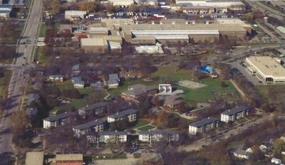 Truax apartments aerial view
