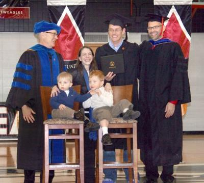 gainey gets degree