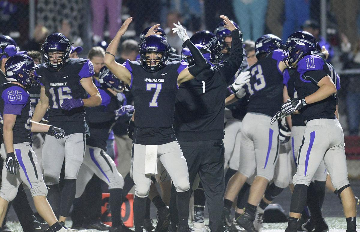 Waunakee players celebrate cover