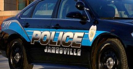 Janesville police squad car tight crop