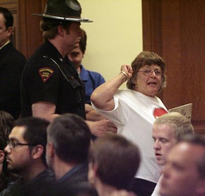 Budget committee hearing chaos main