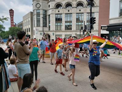 Pride Parade in Madison, 2018