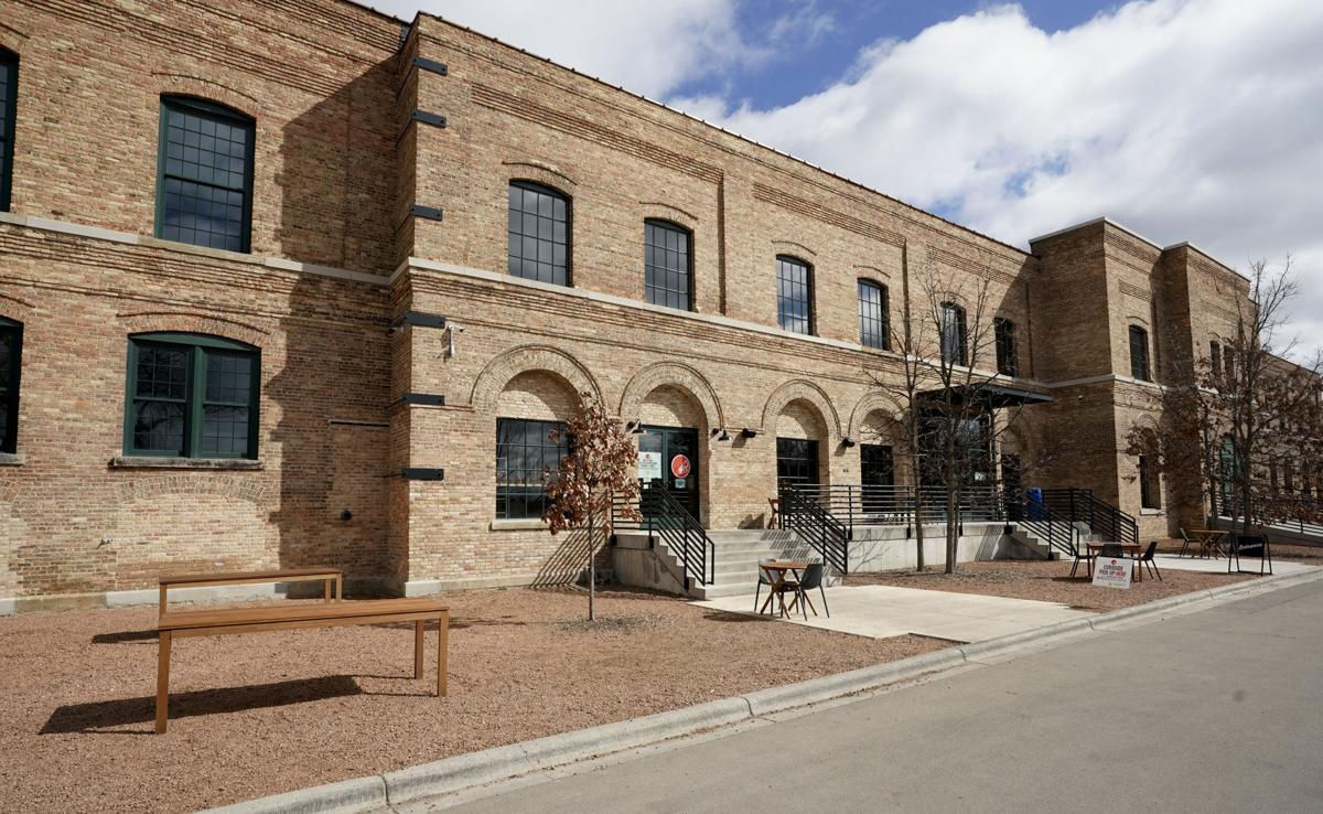 Outdoor patio at Garver Feed Mill