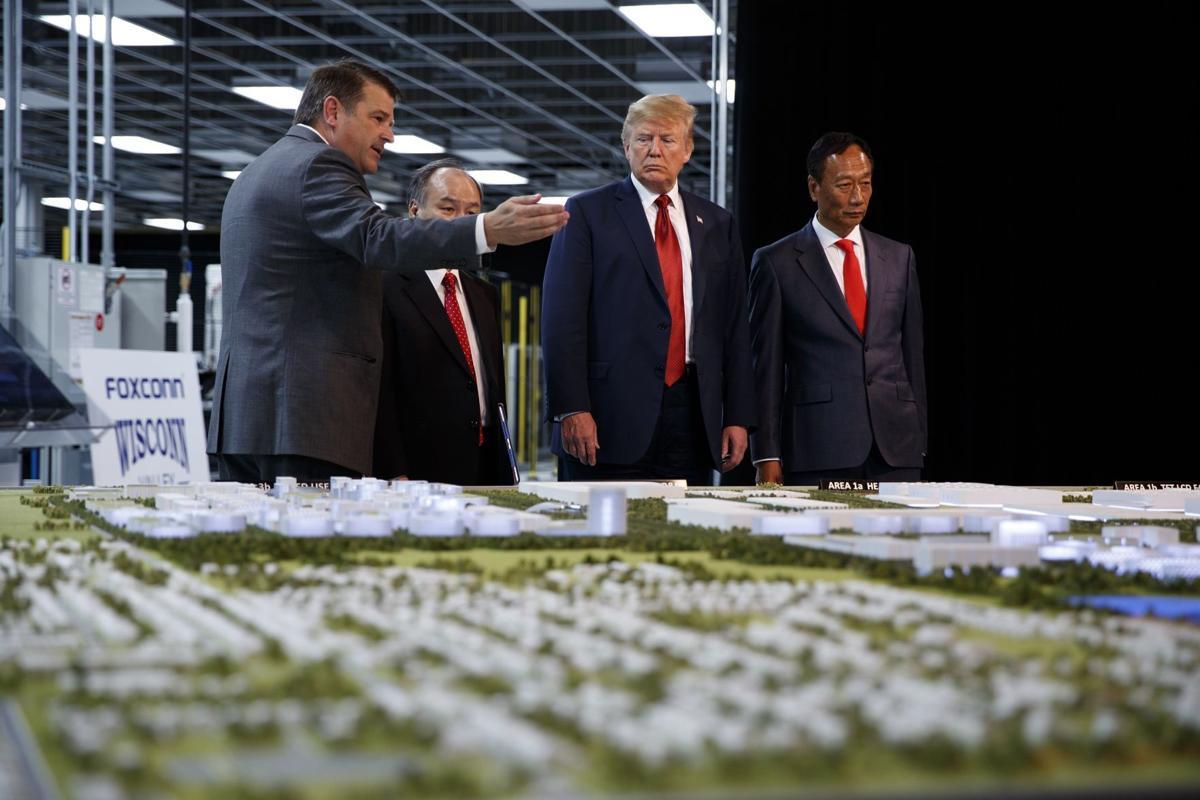 Trump visits Foxconn