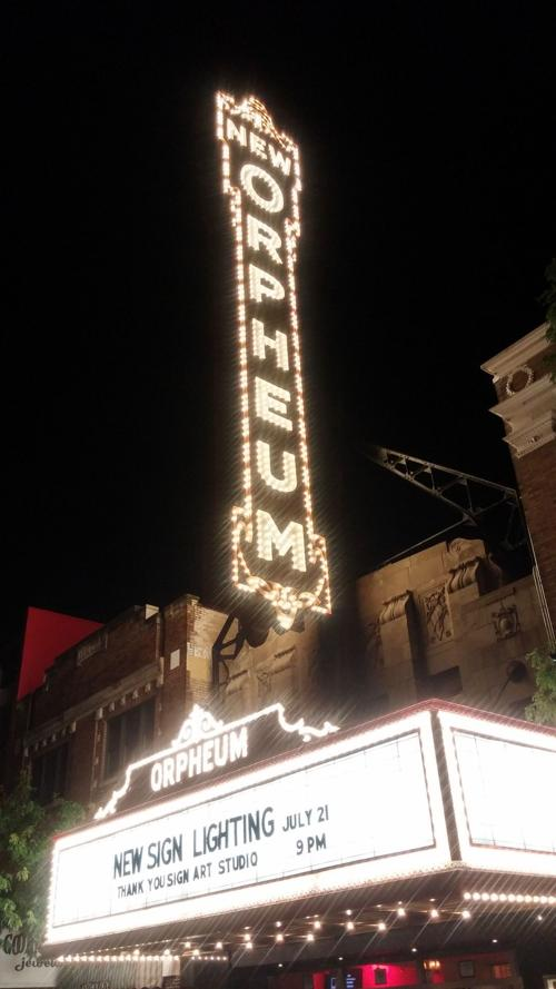 Orpheum Theater sign