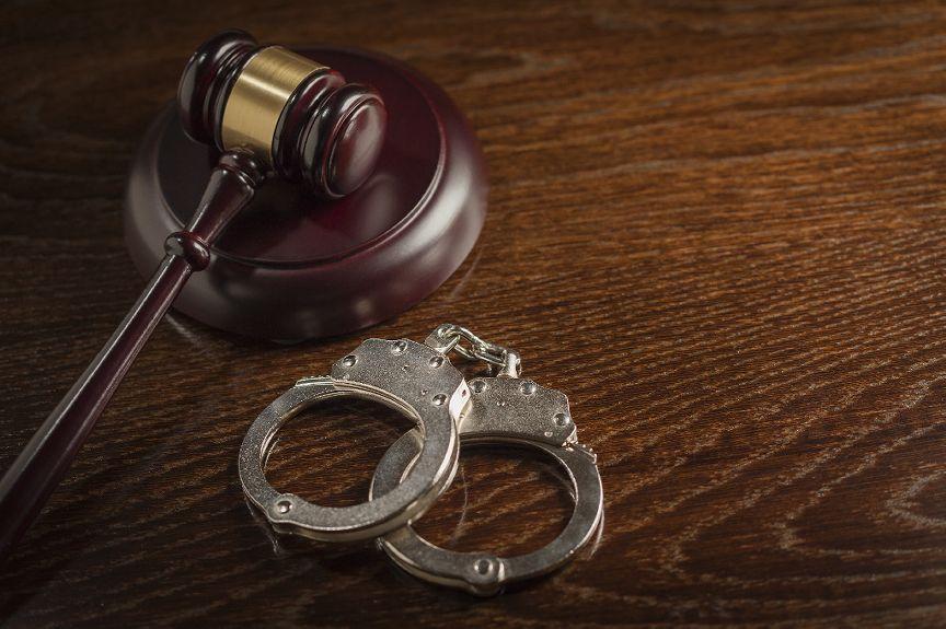 Handcuffs & gavel