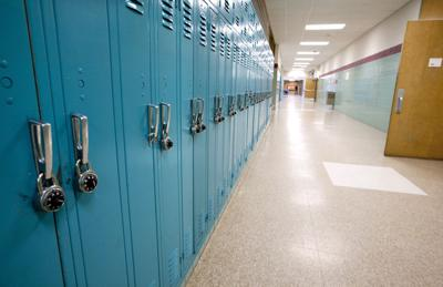 School hallway/lockers file photo