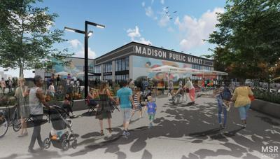 Madison Public Market outside render