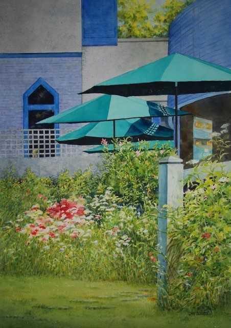 Hidden Garden, Jan Boelte, Madison Watercolor Society