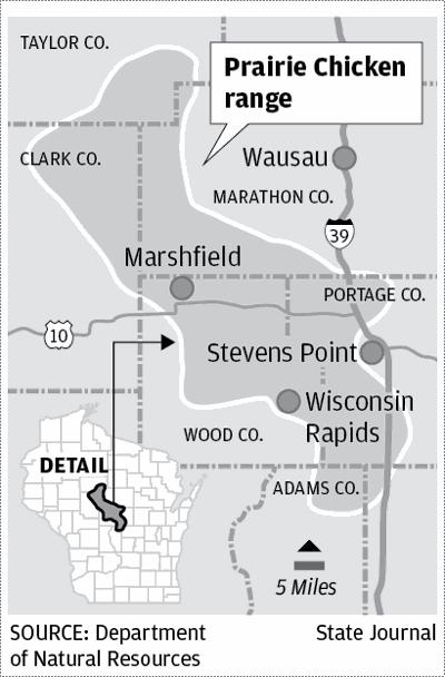 Prairie Chicken range map