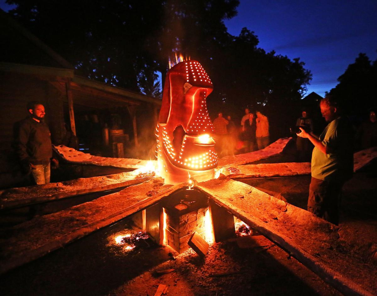 Test run of fire sculpture