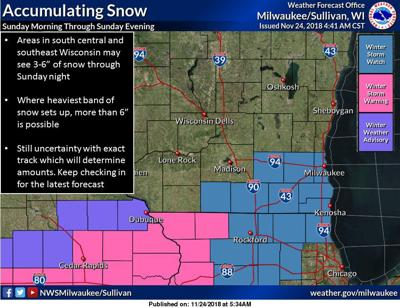 Saturday Morning Snow In Madison >> Storm System To Dump Heavy Snow In Region On Sunday Question Is