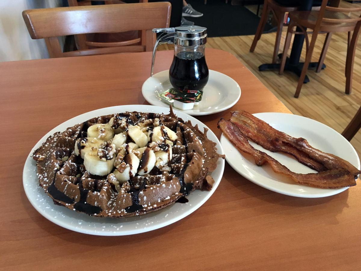 TNT chunky monkey chocolate banana waffle photo by Gwen Rice.JPG