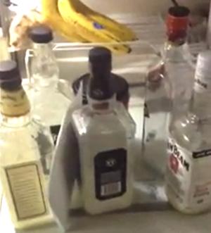 Molotov cocktail bottles