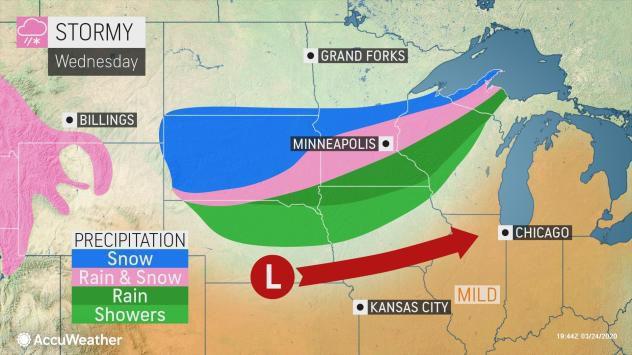 Stormy forecast Wednesday by AccuWeather
