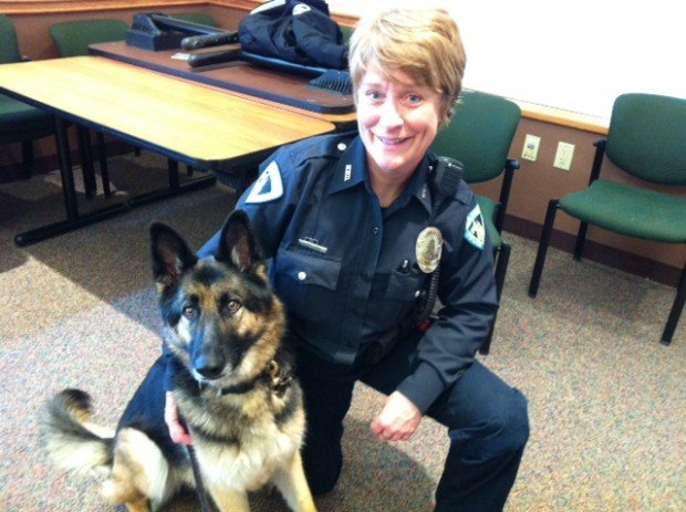 Officer Carren Corcoran and K9 Bitty