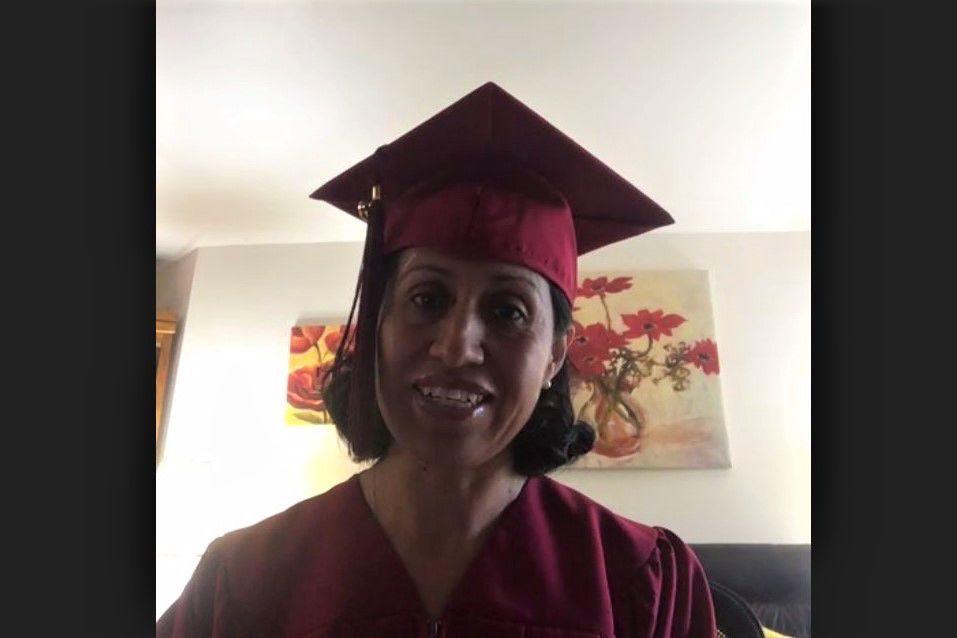 Latino Academy graduates Laura Lucio
