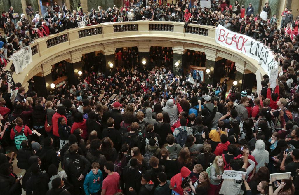 student protest: rotunda