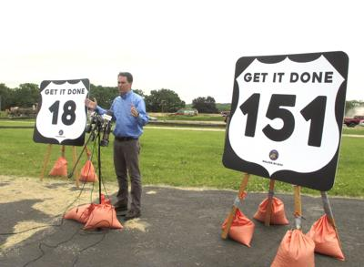 Walker speaks on roads budget