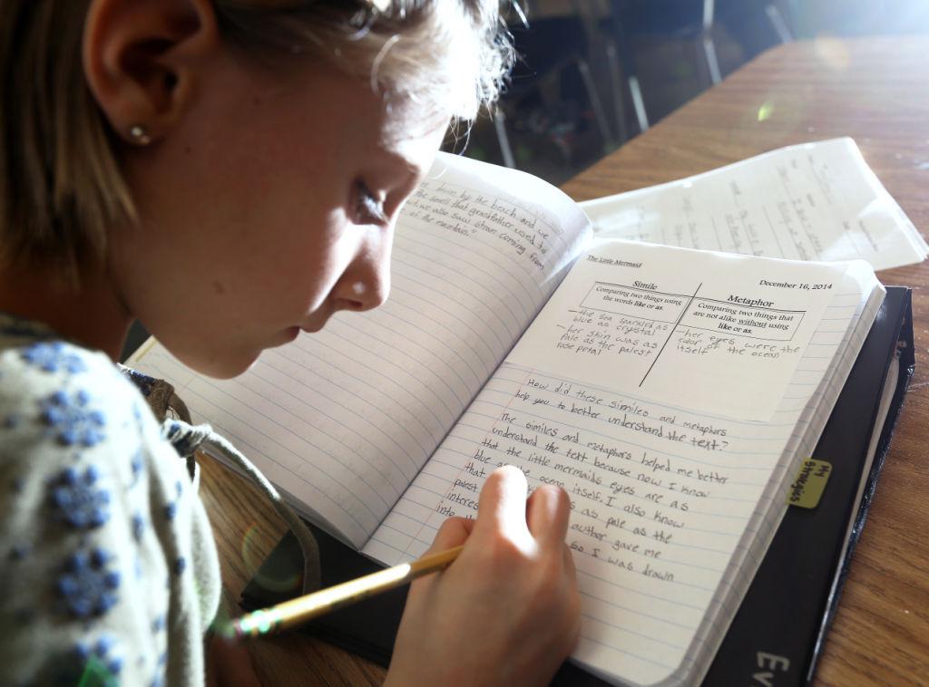 Evie Strigel writes in her journal
