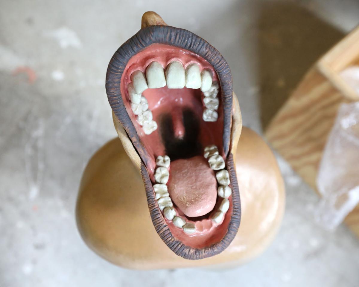 Mouth sculpture by Dan Bassett