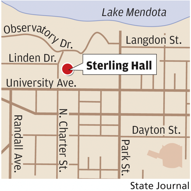 Sterling Hall map