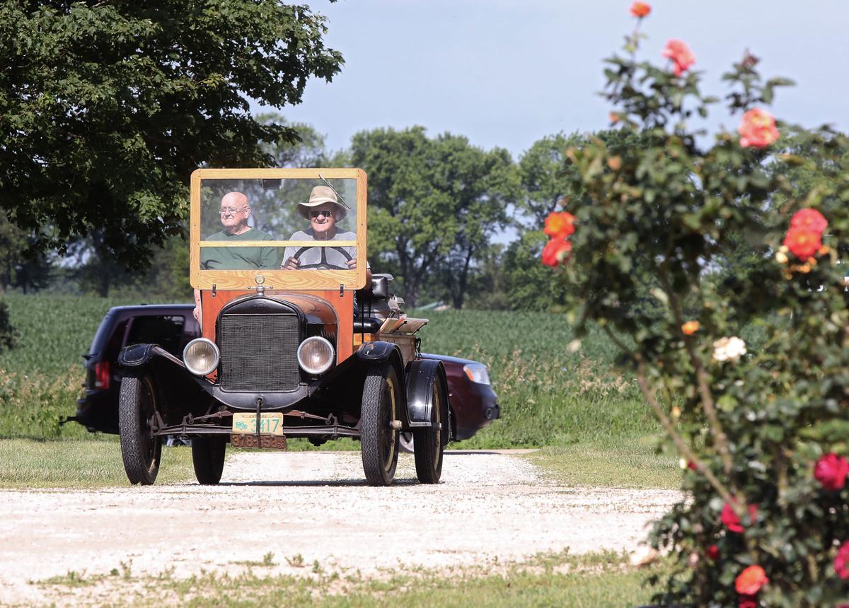 Rose gardener drives around in a 1924 Model T