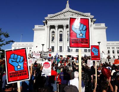 Union protest file photo