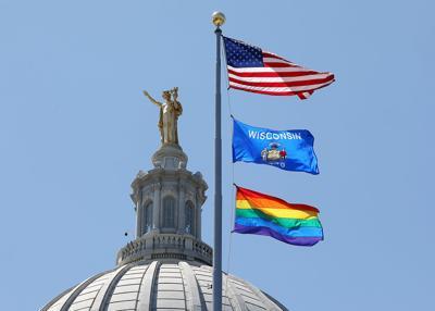 Rainbow flag flies over Capitol