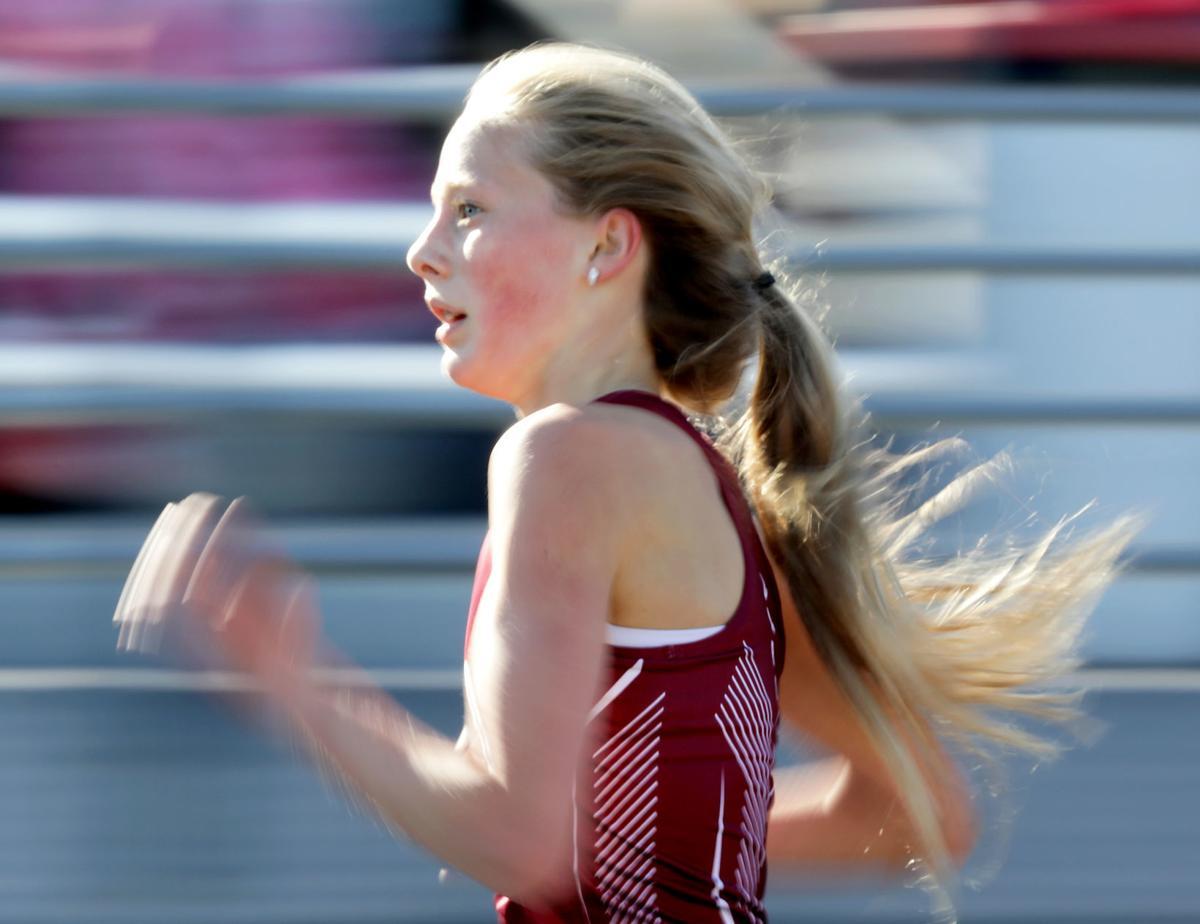 WIAA girls track photo: Middleton freshman Lauren Pansegrau