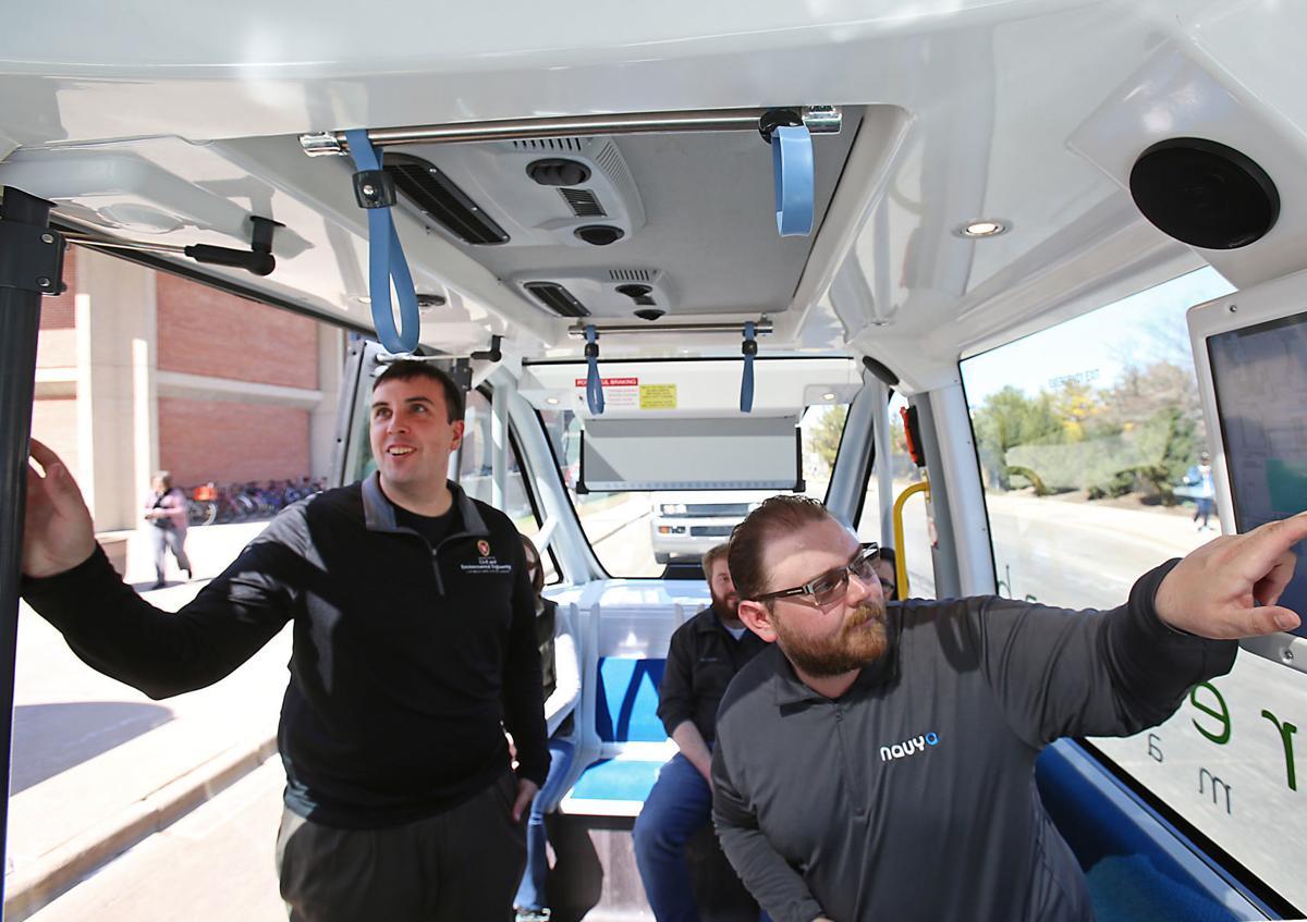 Driverless shuttle interior