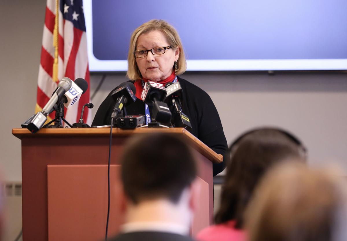 School closure news conference